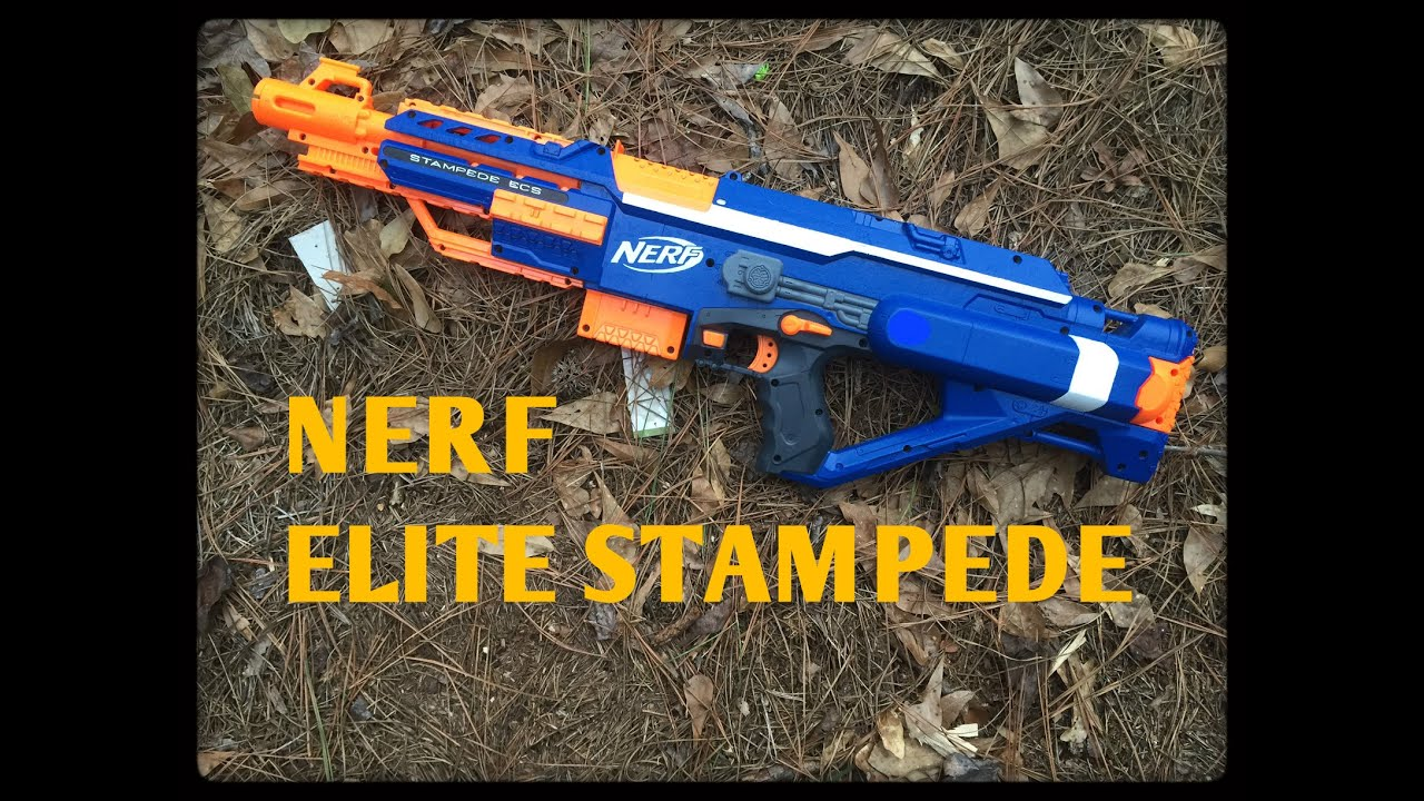Review The Nerf Elite Stampede Ecs 18 Youtube
