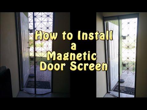 Easy Magnetic Screen Door Installation Youtube