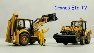 Diecast Masters Caterpillar 420 and 432 Backhoe Loaders by Cranes Etc TV