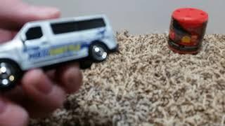 Metal Mario, matchbox Nissan  NV van, and Cars 3 mashem review