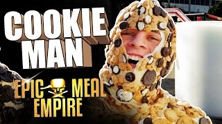 How To Eat Cookies and Milk feat. Cookie Man (Marcus Johns) - Epic Meal Empire