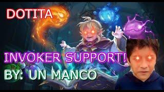 UN MANCO JUGANDO INVOKER SUPPORT (Dota 2 Gameplay)