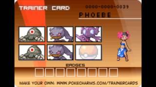 Hoenn Elite 4 & Champion trainer cards
