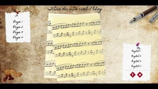 Writing And Music - HTML Template Creation