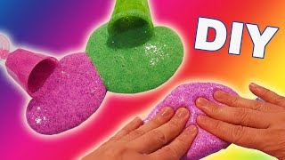 DIY How To Make Gooey Glitter Slime without Borax! Surprise Ingredient! Bum Bum Surprise Toys
