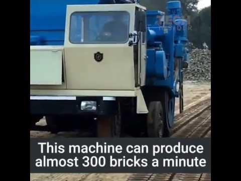 Making bricks with machine
