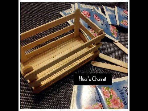 Manualidades cajita con palitos de helado diy tutorial - Manualidades con cajas de madera ...