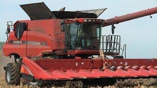 hartmann grain farms case ih 8230 combine on 10 20 2013