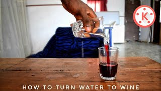 How to turn water into wine in kinemaster  | Best magic trick  | Kinemaster new editing trick