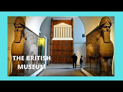 LONDON, the ancient ASSYRIAN sculptures at the BRITISH MUSEUM