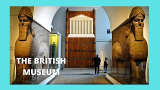 Ancient Assyrian sculptures at the British Museum, London