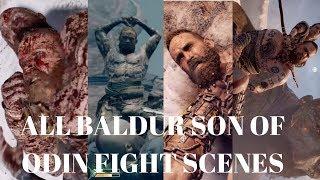 God of War PS4 Kratos Vs Baldur All Fights  God of War4 New 2018 Ps4 Pro