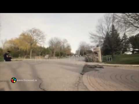 Ninja car accident during shoot of flying cars