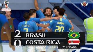 BRASIL 2 x 0 COSTA RICA NO FIFA 18!! | NARRAÇÃO DO GALVÃO BUENO NO FIFA 18 WORLD CUP