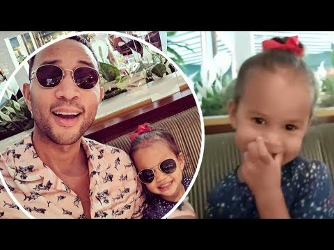 John Legend Enjoys Sweet Father-daughter Bonding Session With Luna As They Sing Baby Shark