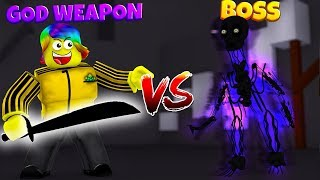 USING A 5,000,000,000 GOD WEAPON TO FIGHT THE ULTIMATE BOSS (Roblox Warrior Simulator)