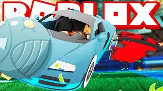 ROBLOX SOCCER... WITH CARS?! (Rocket League in Roblox!)