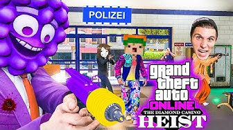 Vier YOUTUBER überfallen eine POLIZEI-STATION!   GTA 5 Online Casino Heists