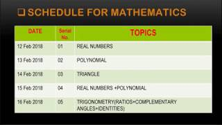 TEST SERIES FOR C B S E CLASS 10TH MATHEMATICS SCIENCE