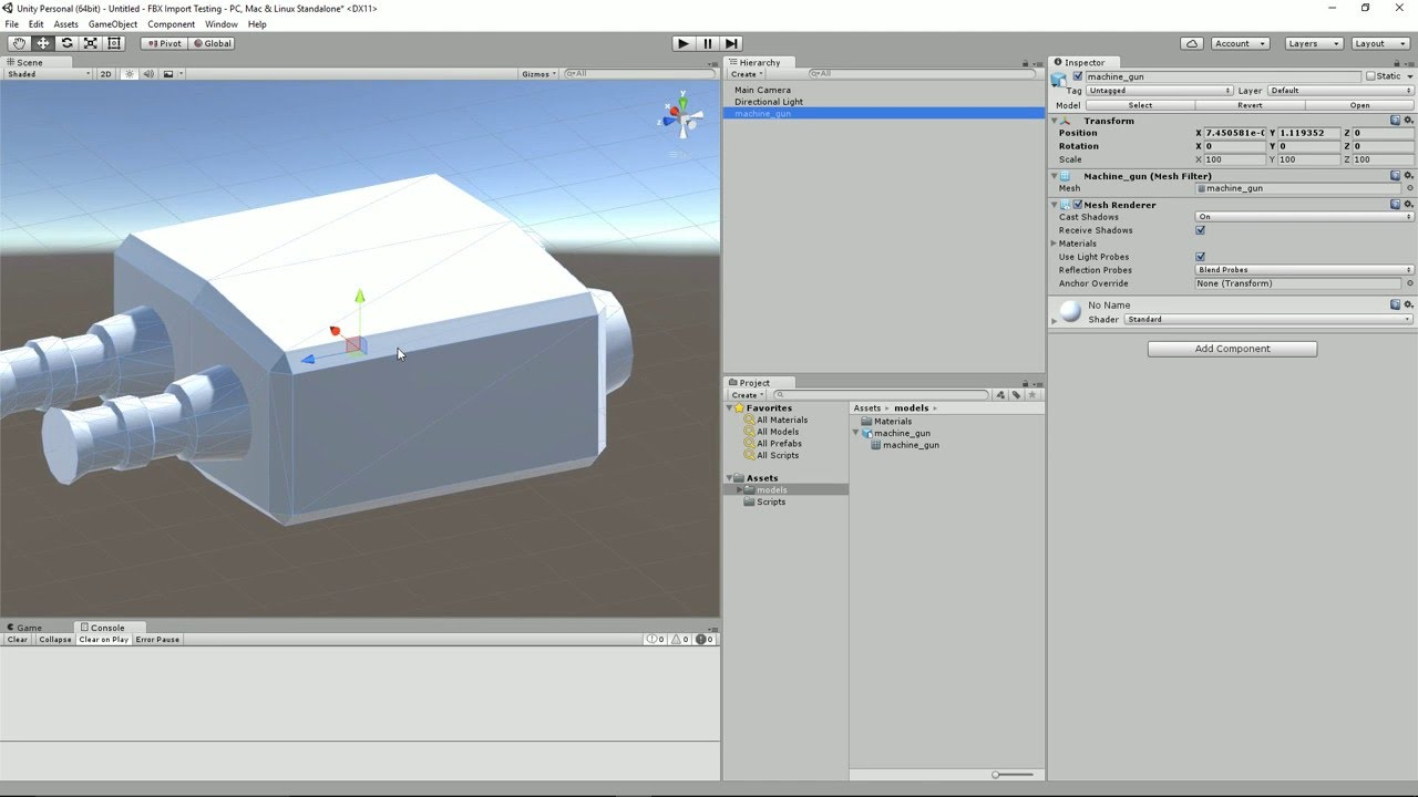 Blender to Unity - Fix Blender FBX Export Rotation and Scale Issue in Unity