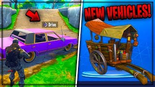 New SECRET Driveable Vehicles In FORTNITE BATTLE ROYALE! (New Fortnite Vehicles Update)