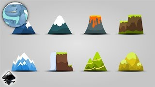 A set of simple mountains. Speed art in Inkscape.