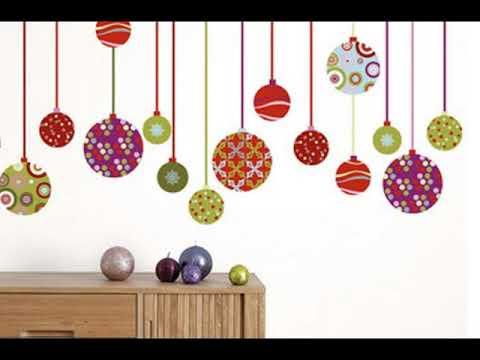 Decoracion de navidad para paredes youtube - Manualidades para decorar paredes ...