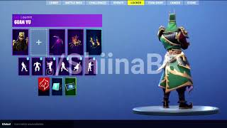 New LEAKED GUAN YU SKIN With DIVINE DRAGON GLIDER Coming To FORTNITE