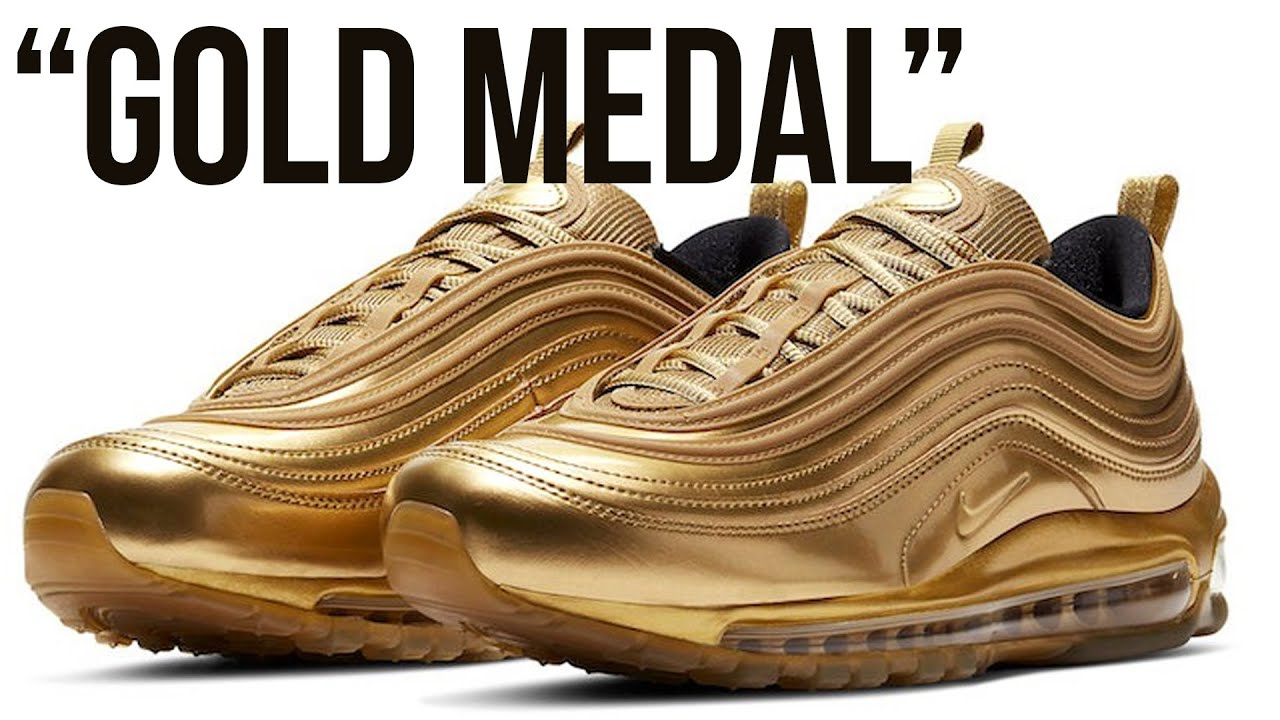 Nike Air Max 97 Gold Medal To Release Ahead Of 2020 Olympics Youtube