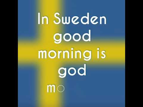 How To Say Good Morning In Swedish Youtube