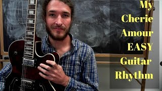 My Cherie Amour EASY and Fun Fingerstyle Rhythm Guitar Lesson