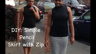 DIY: Pencil skirt with zipper and slit tutorial.