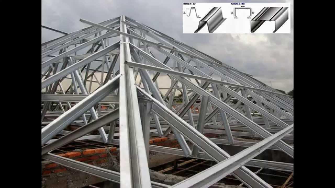 contoh atap baja ringan rumah minimalis model kuda konstruksi youtube