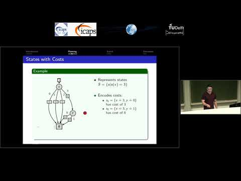 "ICAPS 2018: David Speck on ""Symbolic Planning with Edge-Valued Multi-Valued Decision Diagrams"""