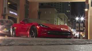 The new Corvette C7 @ JBR Dubai UAE