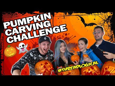 🎃Halloween Pumpkin Carving Challenge🔪ft. SimplyNailogical