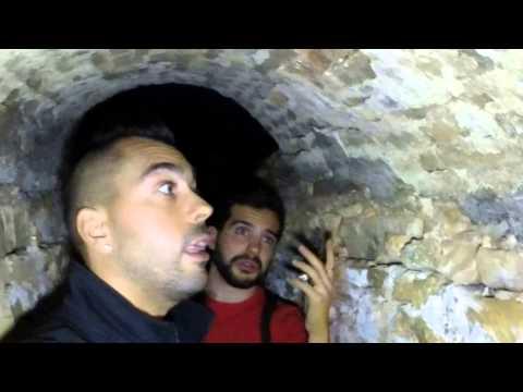 Minas de Plata [41]: Recta final de la gruta y entrada en un arco romano del interior de la galería