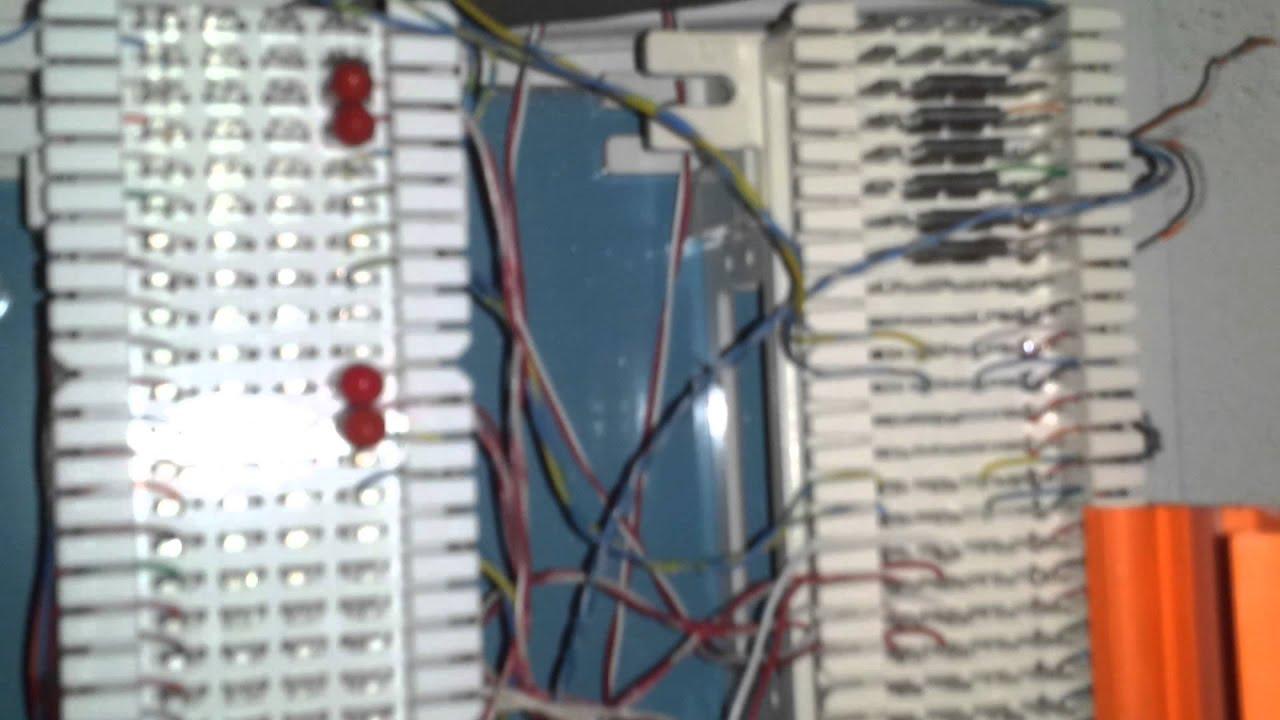 110 Block Wiring Diagram 25 Pair 110 66 Block Telephone Cabling Youtube