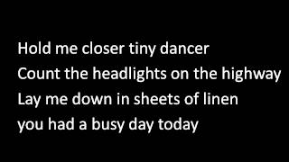 Tiny Dancer in the style of Elton John Karaoke
