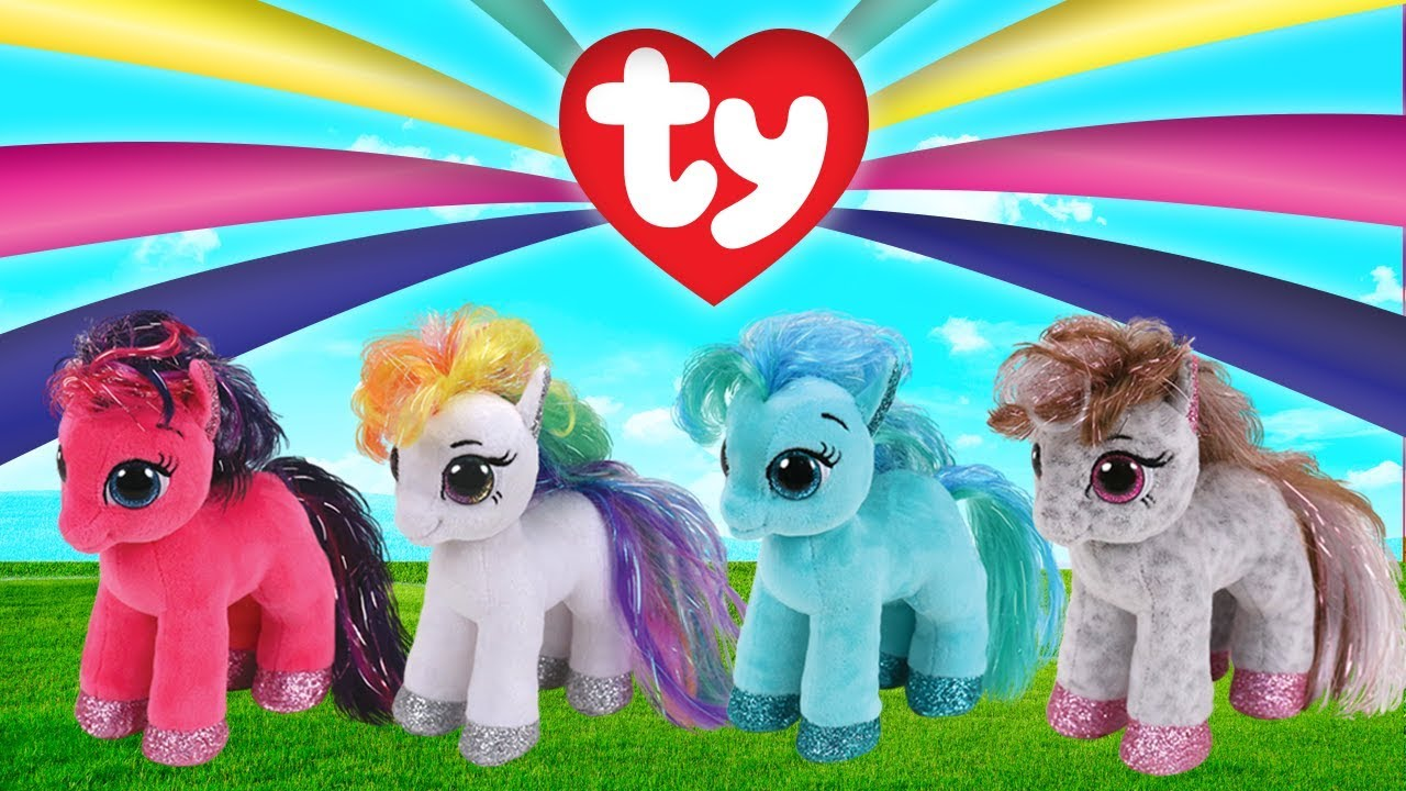 cb1c0b32cc9 These Ty Beanie Boo Ponies Really Know How To Sparkle! - YouTube