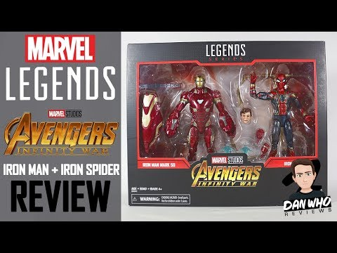 Marvel Legends Avengers Infinity War Iron Man Iron Spider Marvel 80th Anniversary 2 Pack Review