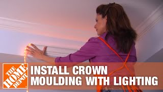 Install Crown Moulding With Lighting   Crown Moulding Ideas   The Home Depot