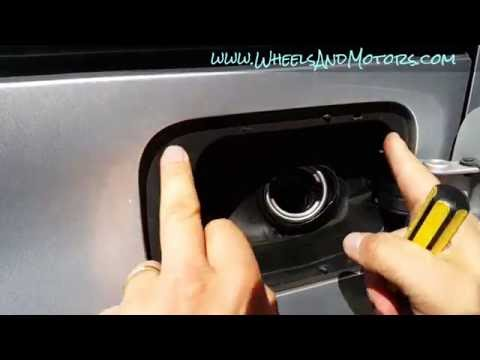How to replace fuel tank flap (door) actuator VW Sharan 7N, SEAT Alhambra