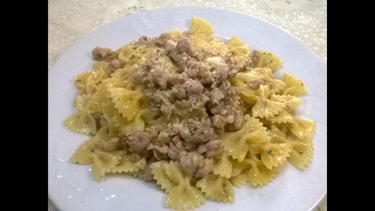 Ricetta pasta veloce con salsiccia youtube for Ricette pasta veloci