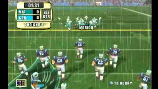 NFL GAMEDAY 2001/ DOLPHINS vs PANTERS (1ST QUATER) [PS2] [HD]