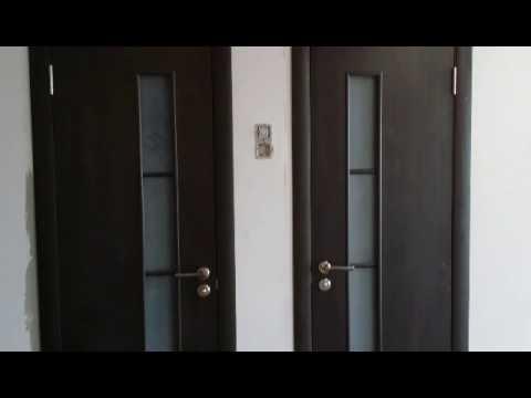 Межкомнатная дверь ПВХ Альфа глухая итальянский орех. - YouTube