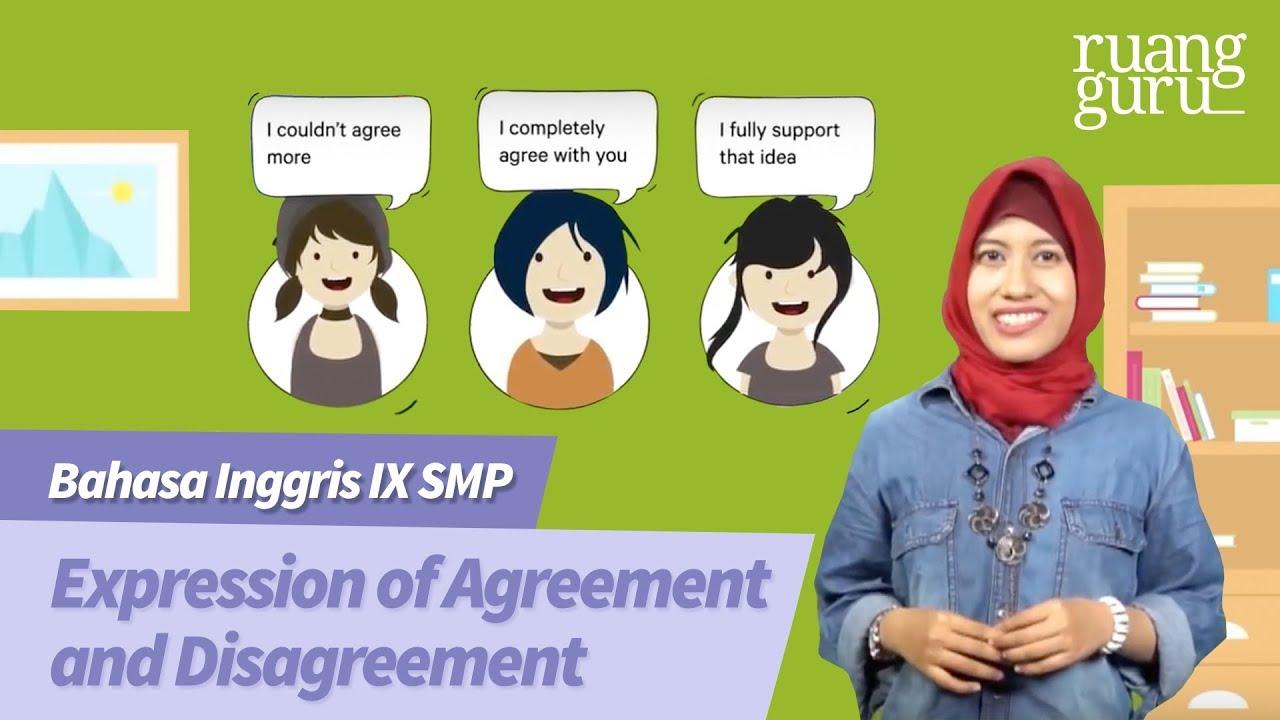 Ruangbelajar Bahasa Inggris IX SMP Expression Of Agreement And Disagreement
