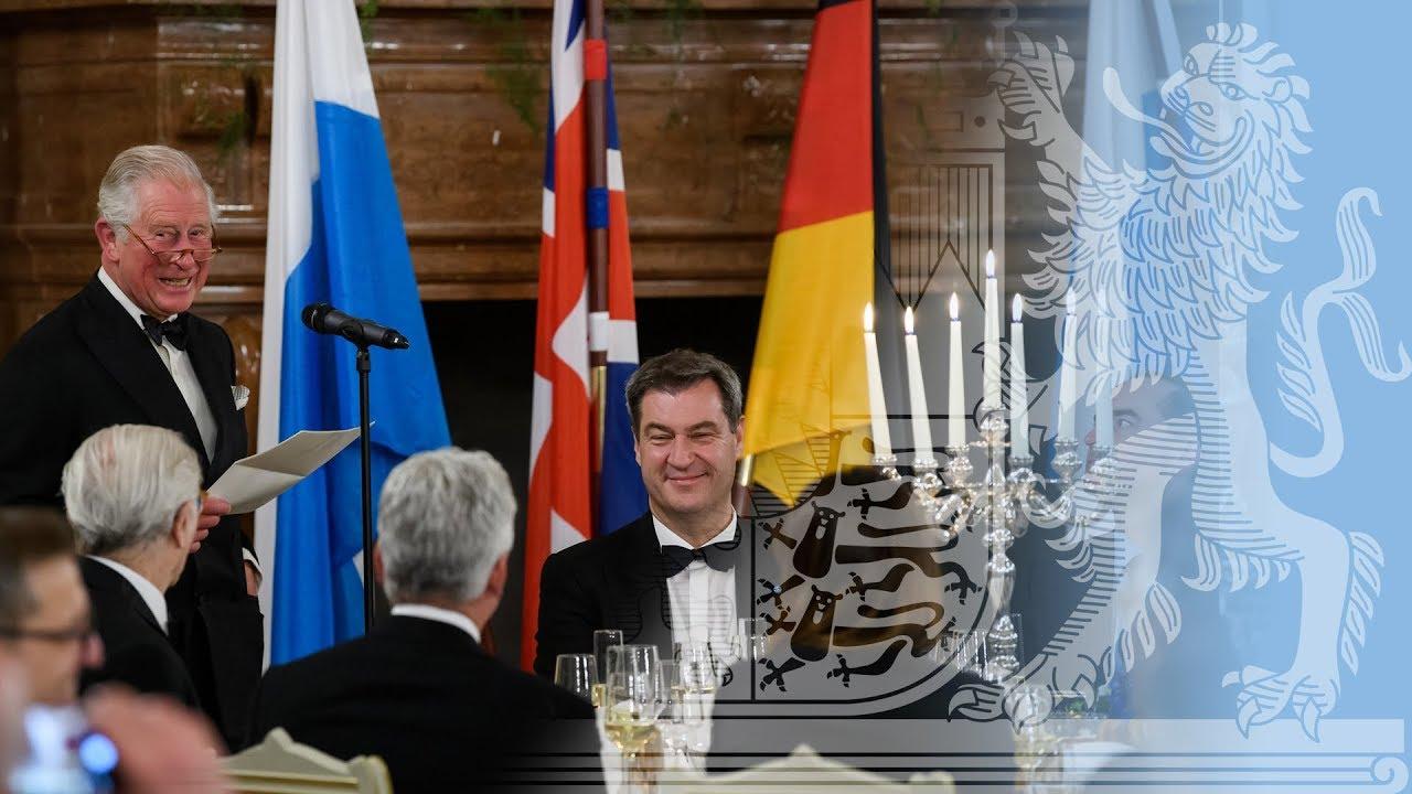 Staatsbankett Anlässlich Des Besuchs Von Prinz Charles Und