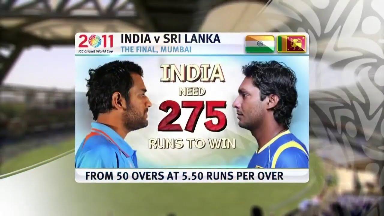 India Vs Sri Lanka Icc 2011 World Cup Final Full Highlights Youtube