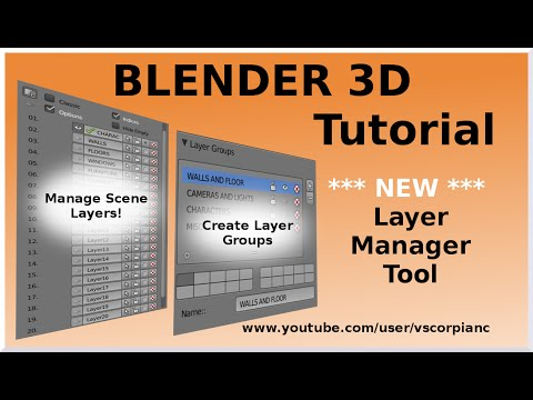 Blender 3D Tutorial - How to Name Layers & More by VscorpianC